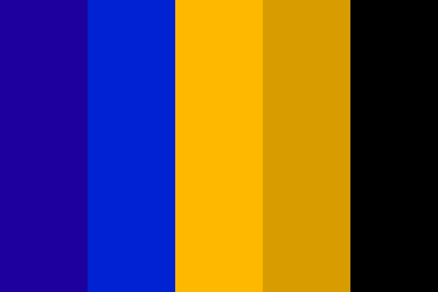 Blue And Gold Color Palette