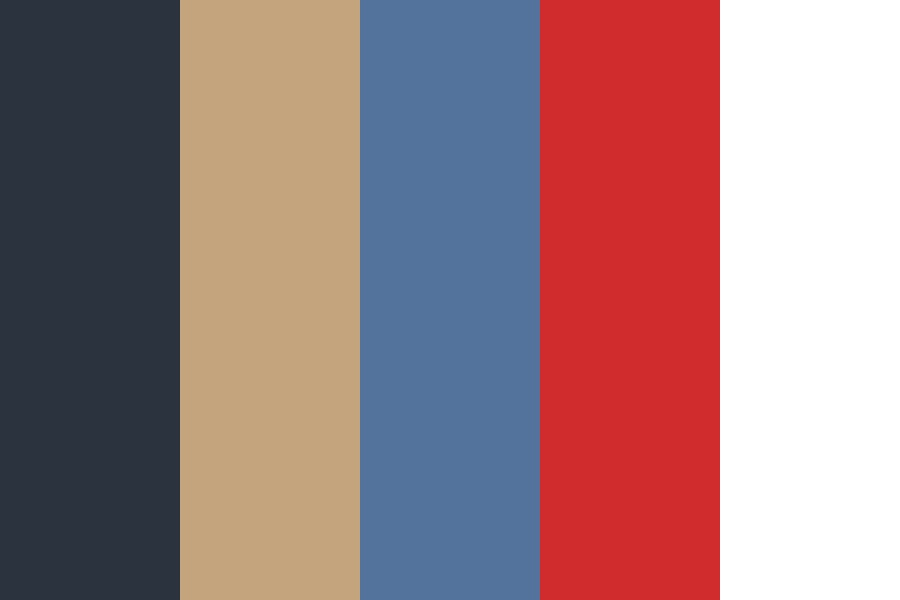Blue And Goldd Color Palette