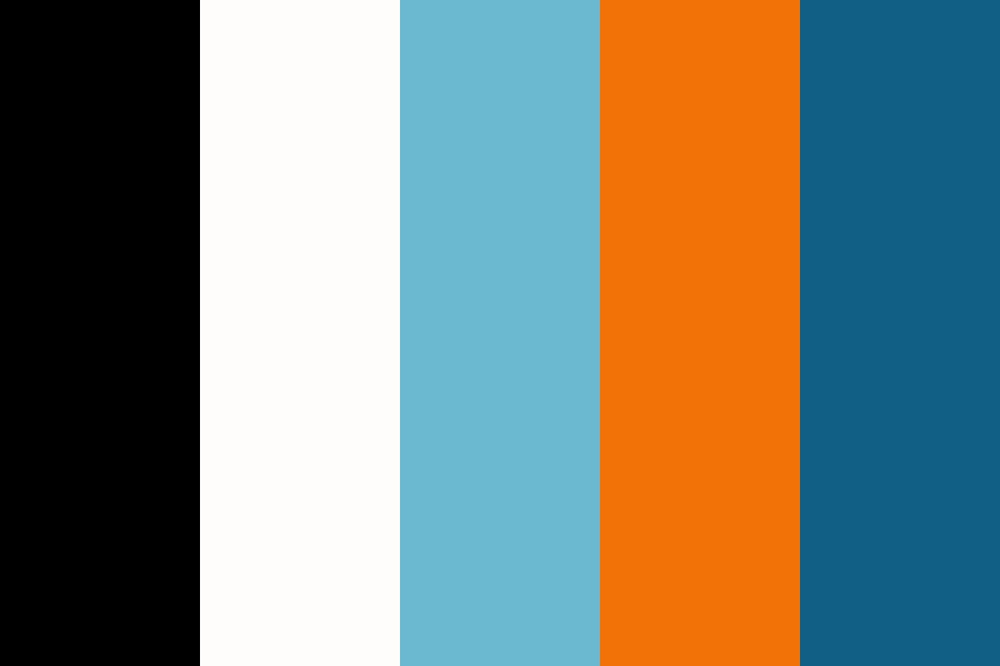 Blue And Orange With The Basics Color Palette
