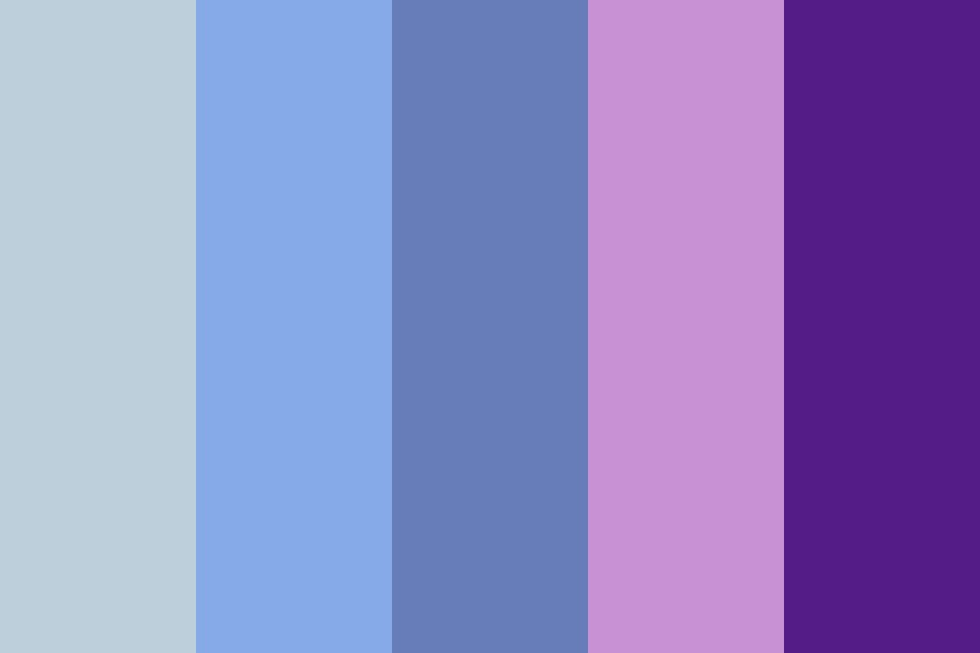 Blue And Purple Galaxy Color Palette