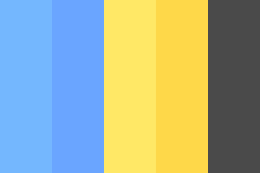 Blue And Yellows Color Palette