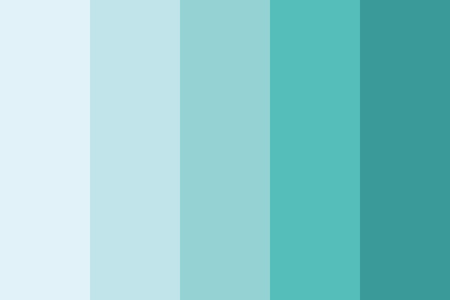 Blue Anime Hair Color Palette