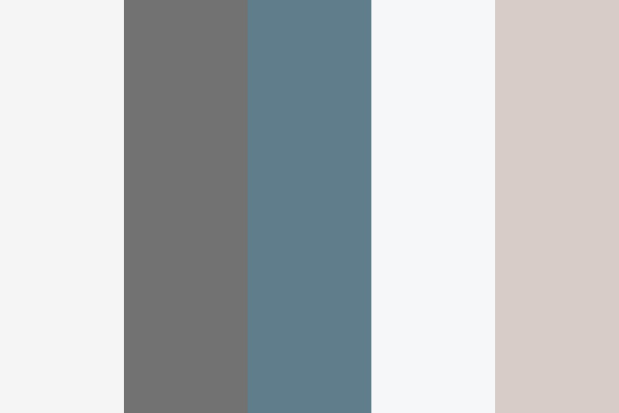 Blue Brown Gray One Color Palette