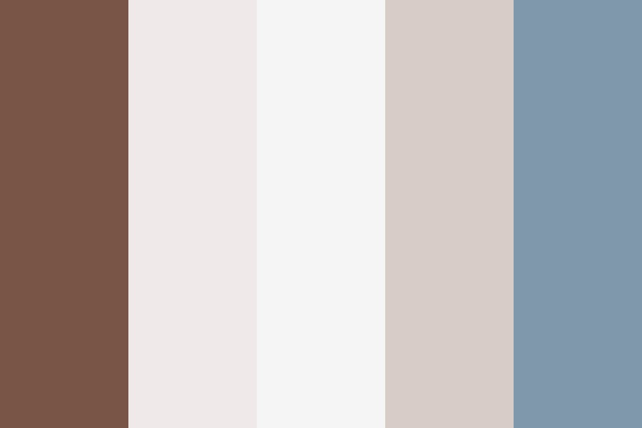 Blue Brown Gray Two Color Palette