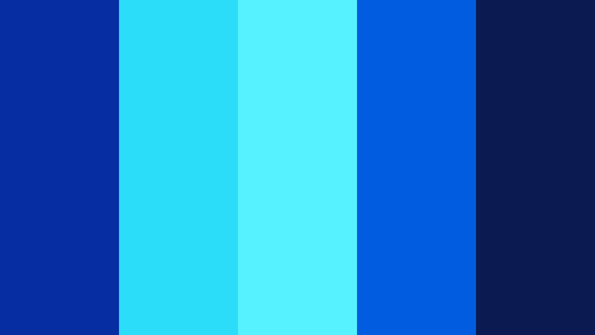 Blue Chrome Color Palette