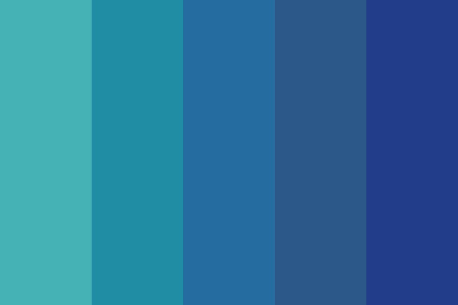 Blue Da Ba Dee Color Palette