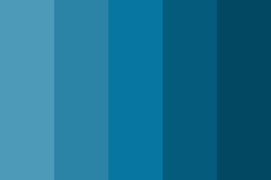Blue Day Shades Color Palette