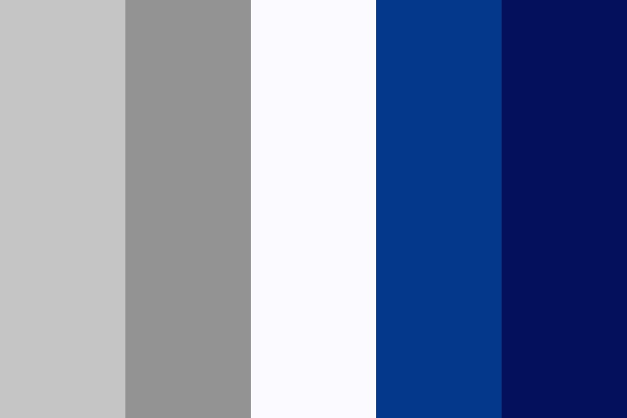 Blue Elf Silver Exol Color Palette