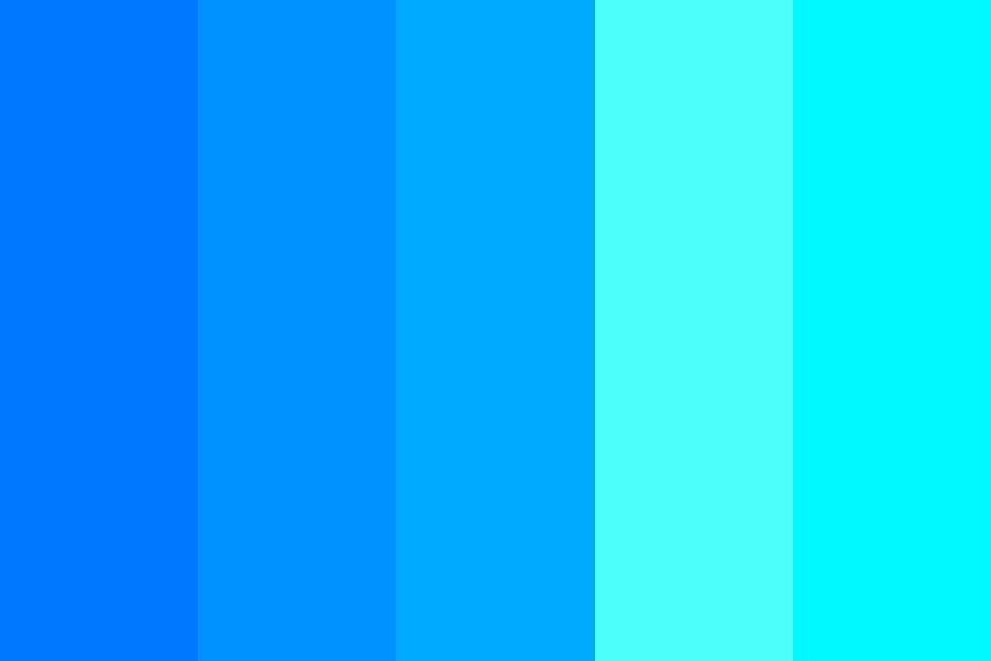 Blue Glowing Mushroom Color Palette