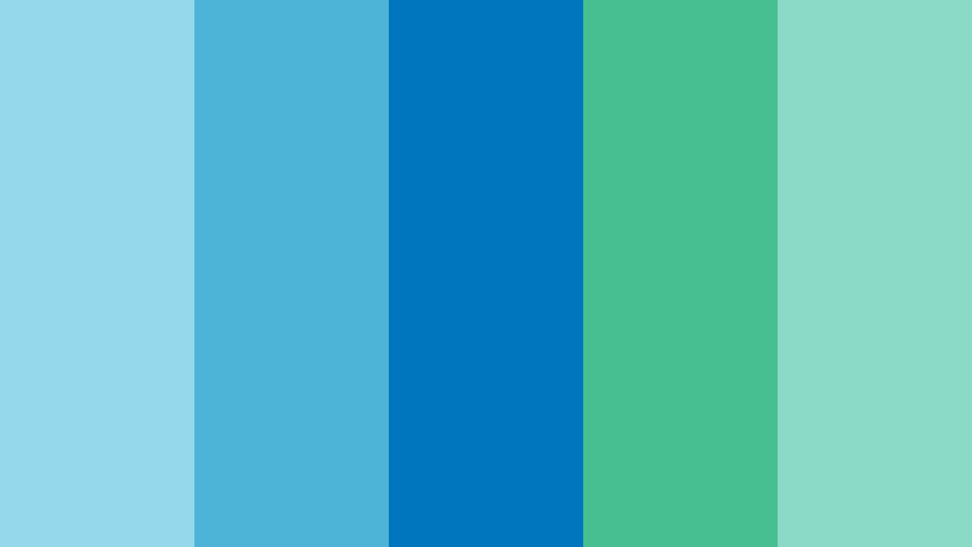 Blue Green Ocean Color Palette