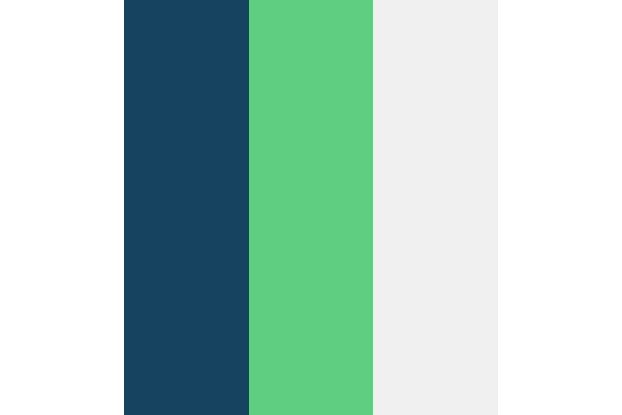 Blue Green White Color Palette