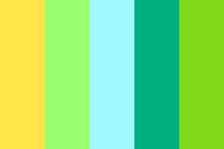 Blue Green Yellow Color Palette