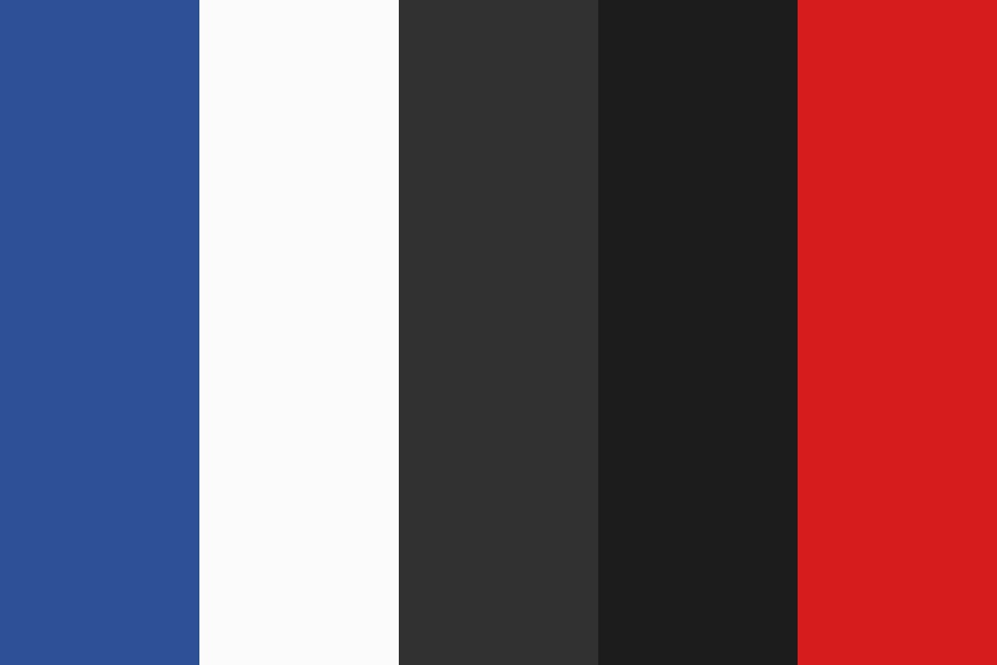 Blue Grey And Red Color Palette