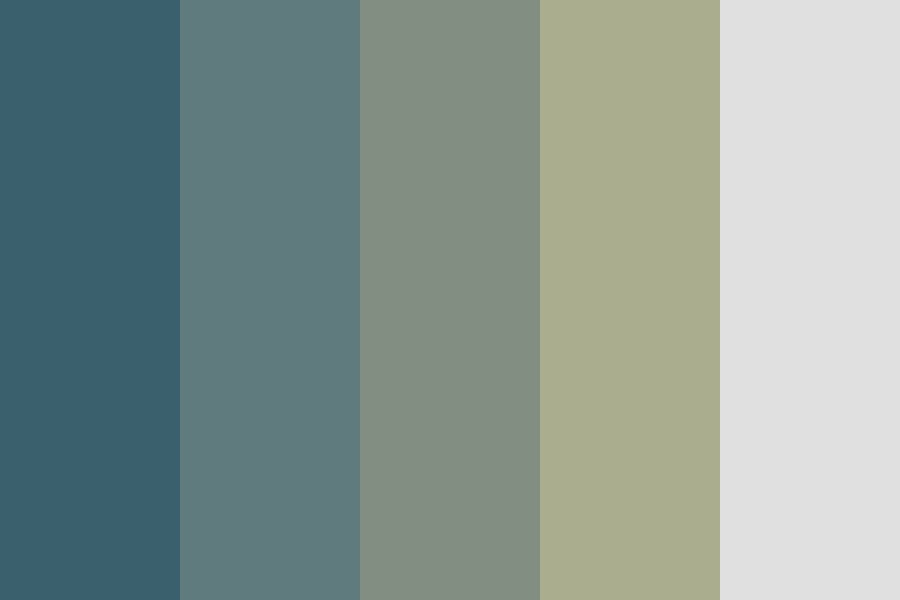 Blue Olive Shades Color Palette