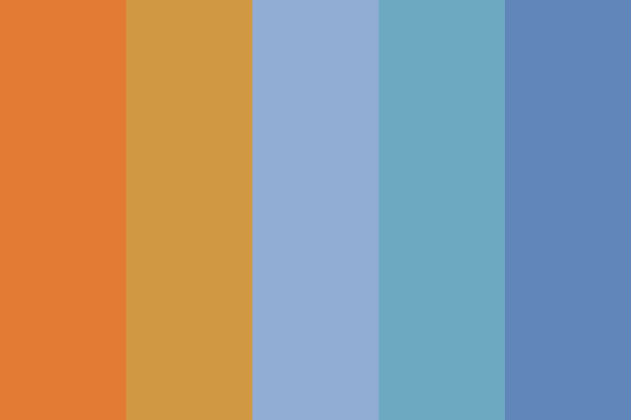 Blue Orangeness Color Palette