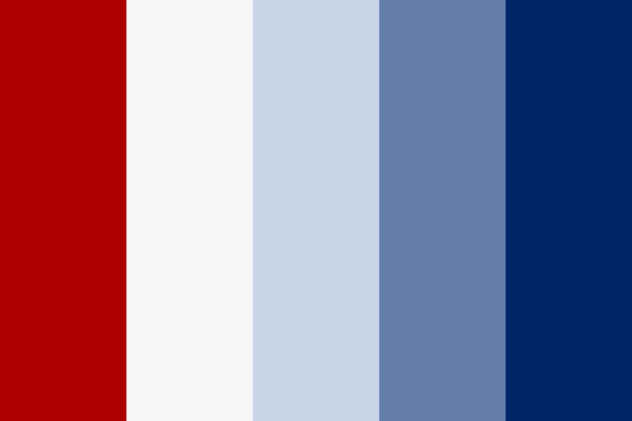Blue Patriotic Color Palette