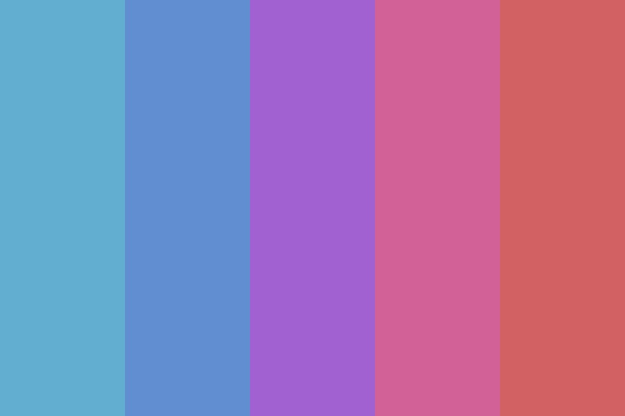 Blue Purple Red Color Palette
