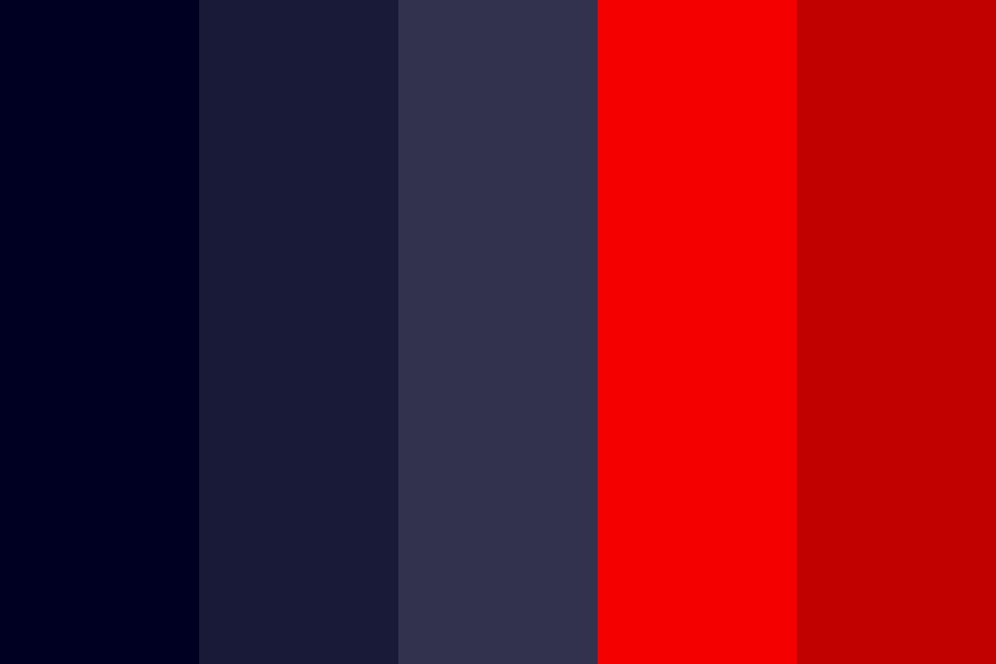 Blue Red Combination Color Palette