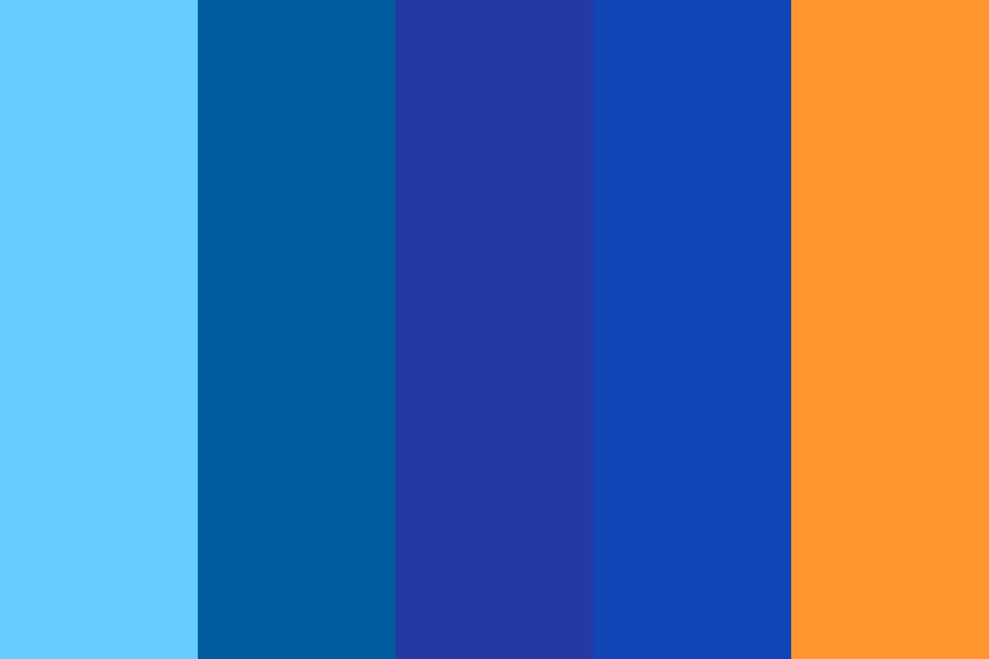 Blue Scale Color Palette