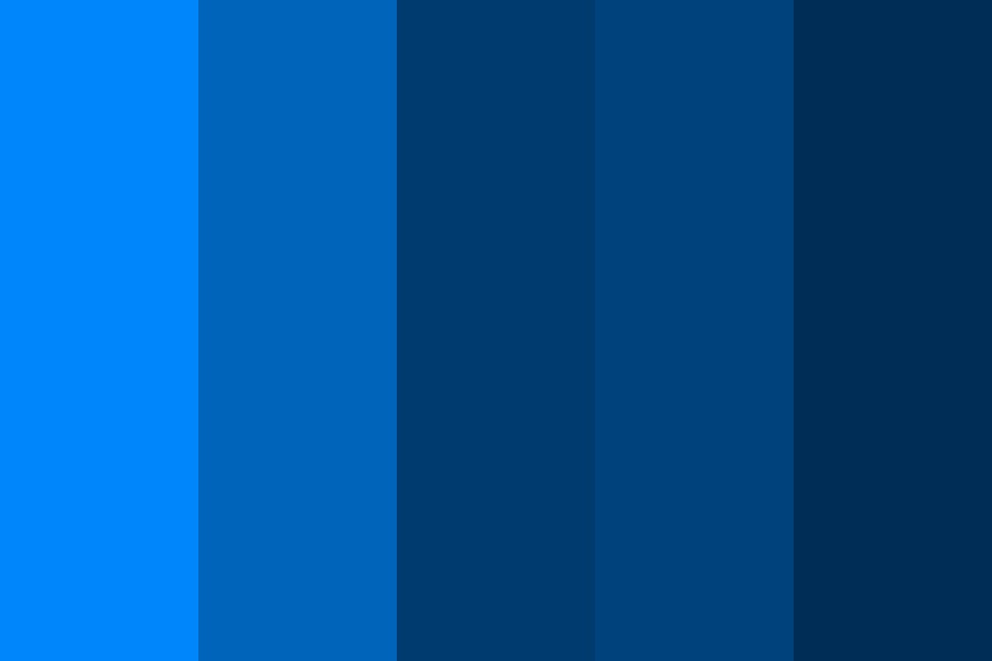 Blue Shades   Inspired Color Palette
