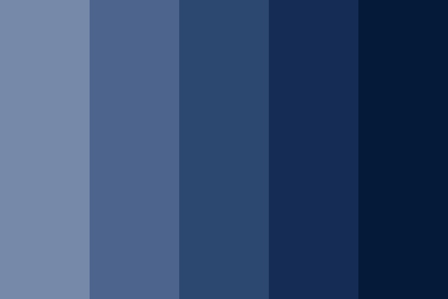 Blue Stava Color Palette