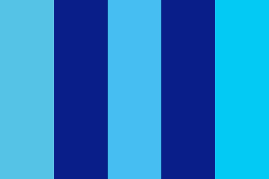 Blue Test Color Palette