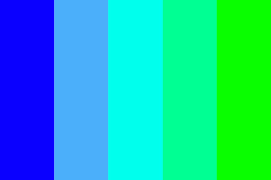 Blue To Green Scale Color Palette