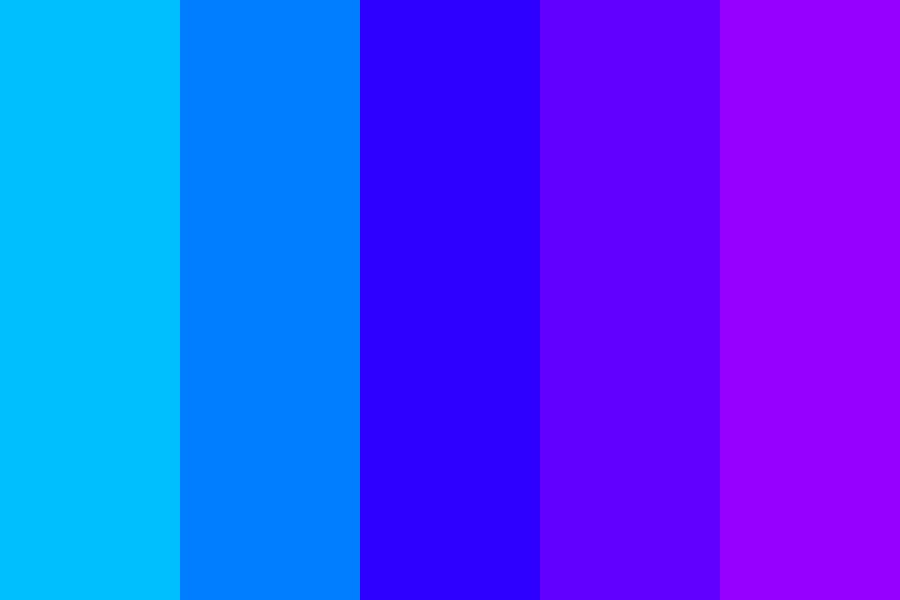 Blue To Magenta Color Palette