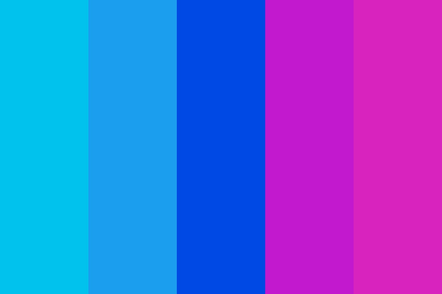 Blue To Pink Palette Color Palette