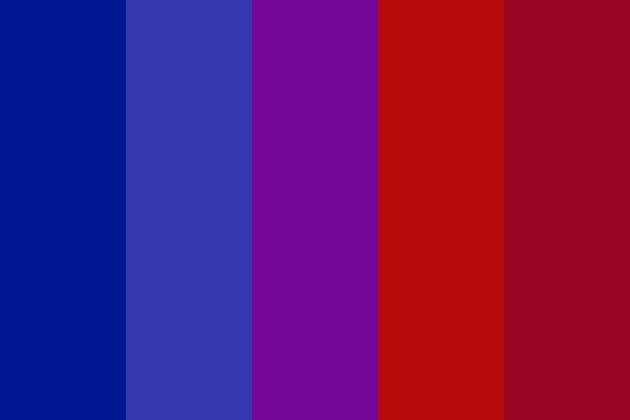 Blue To Red Color Palette