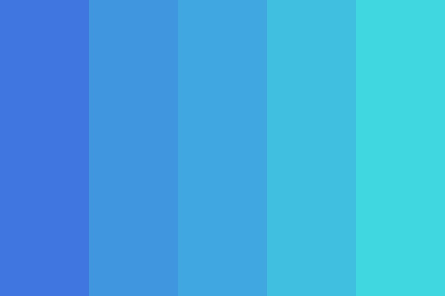 Blue To Turquoise Color Palette