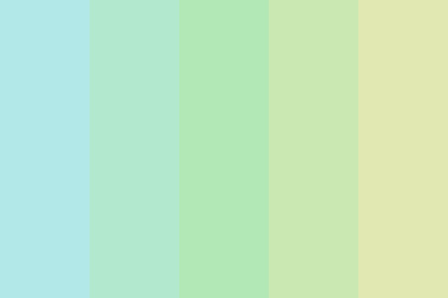 Blue To Yellow Pastel Color Palette