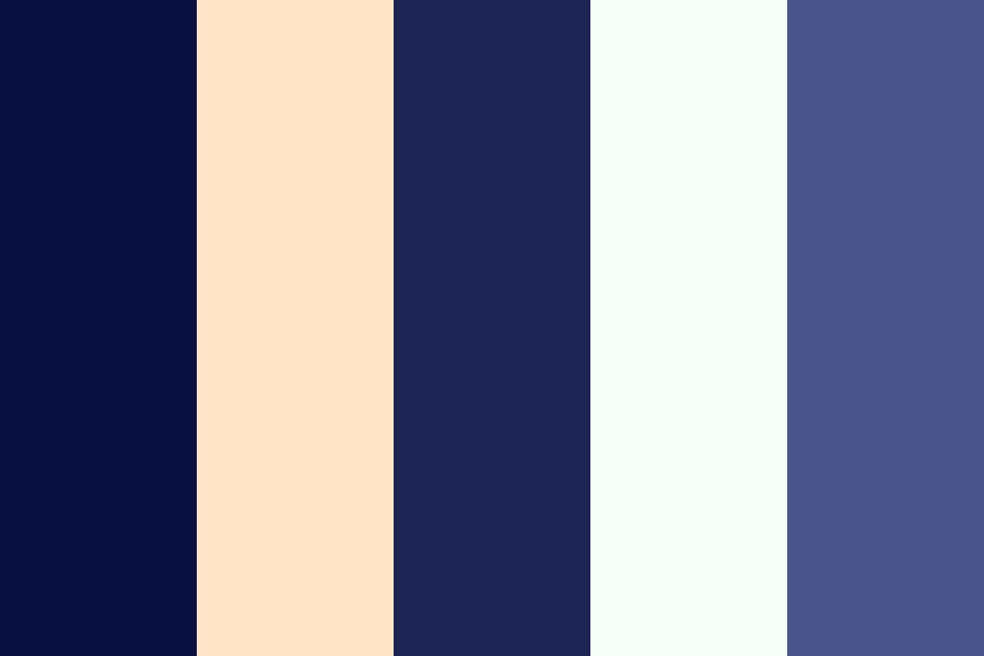 Blue Trees Color Palette