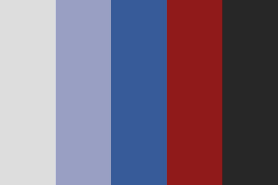 Blue With A Splash Of Red Color Palette