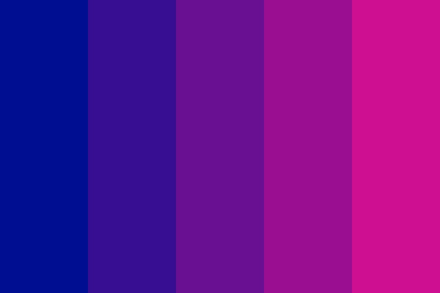 Blue With Increasing Red Color Palette