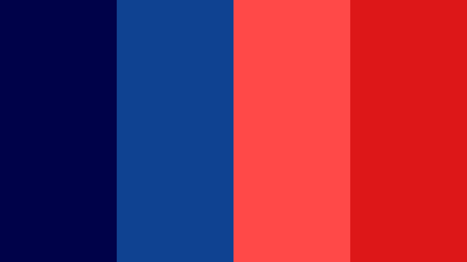 Blue With Red Color Palette