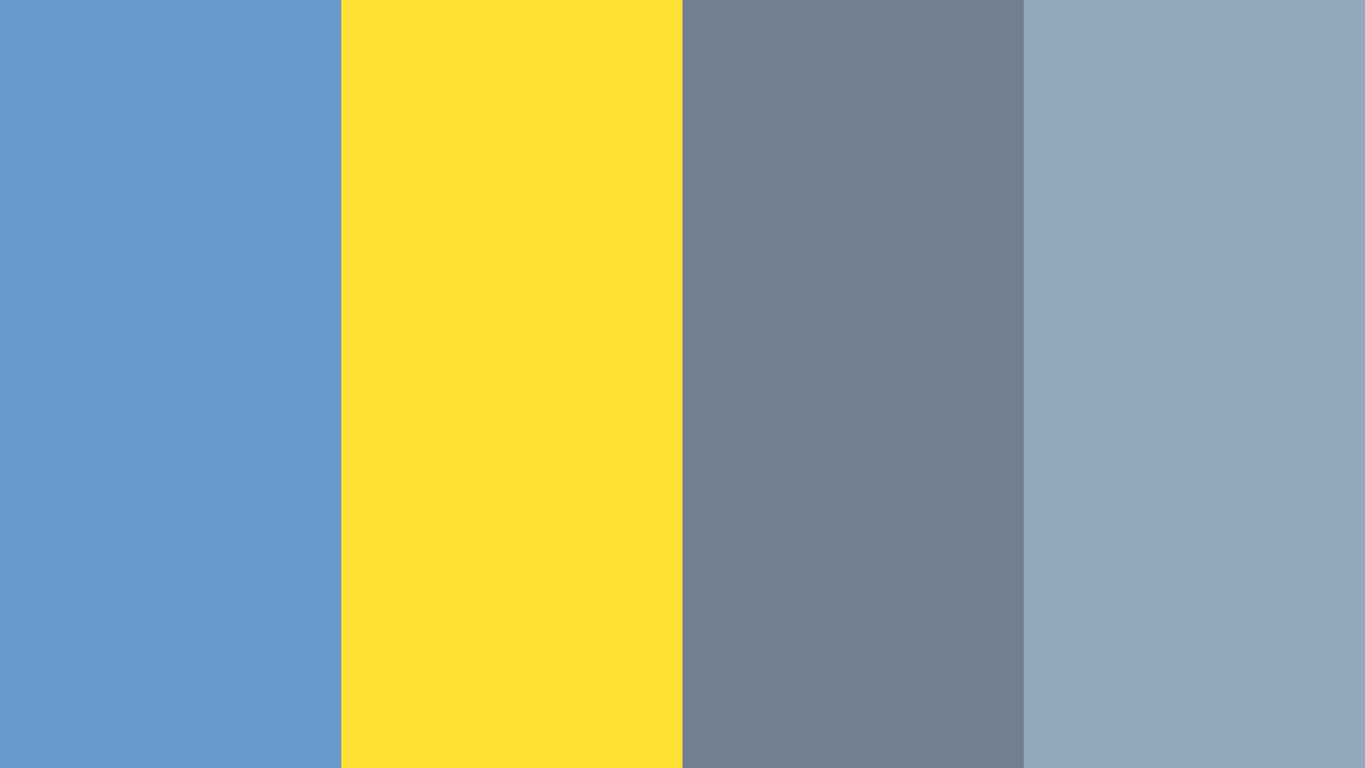 Blue Yellow Gray Color Palette