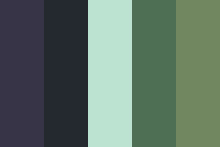 Blueberries And Blackberries Color Palette
