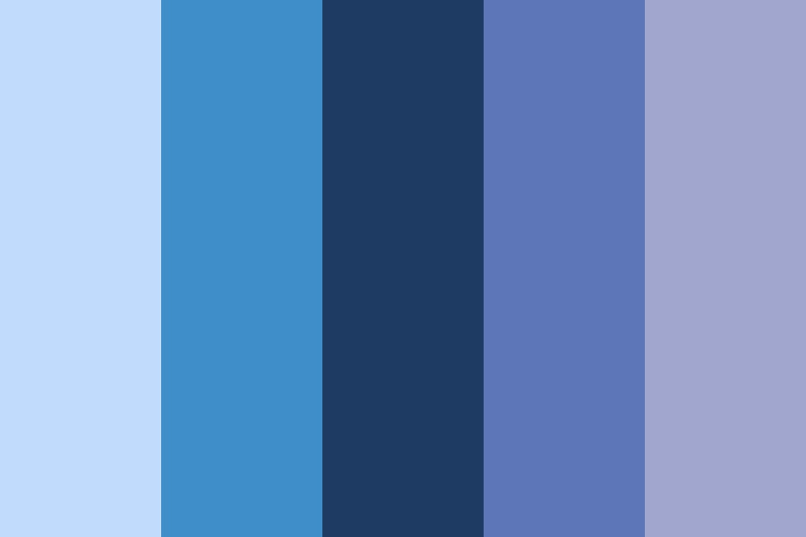 Blueberries In The Rain Color Palette