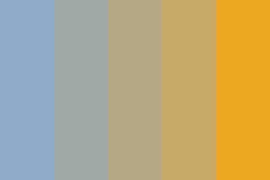 Blueberry Buttercup Color Palette