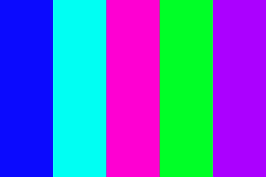 Blueish With Green And A Pink like Color Color Palette