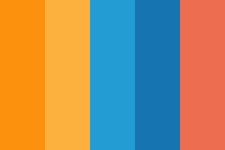 Blueorange Wapang Color Palette