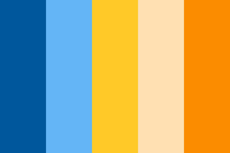 Blues And Golds And Orange Color Palette