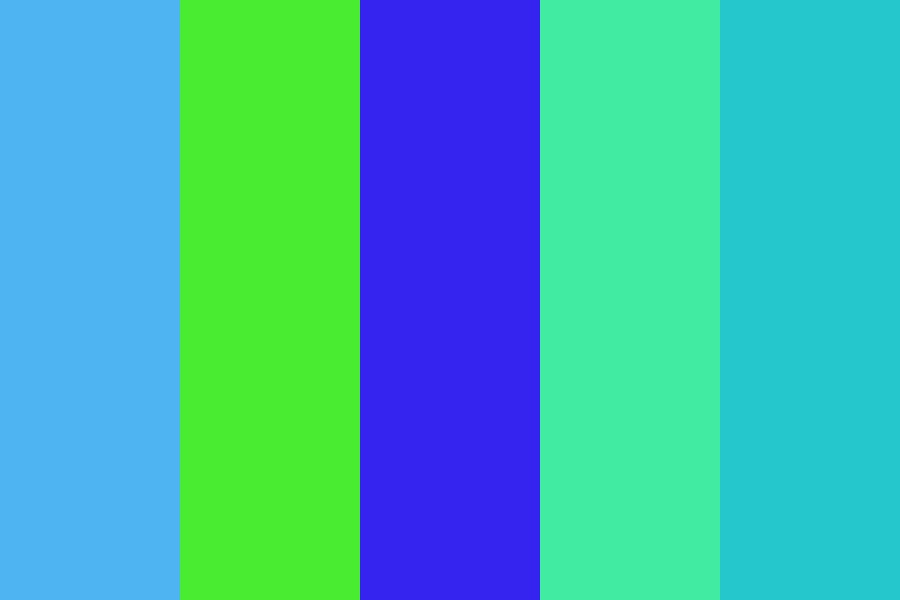 Blues And Greens Color Palette