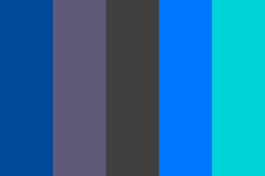 Blues And Greys Color Palette