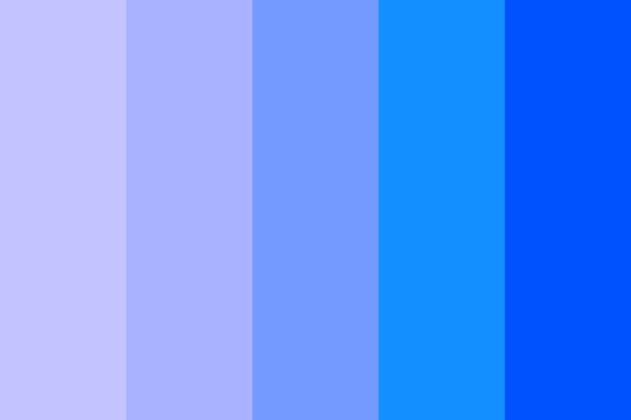 Blues In A Pool Color Palette