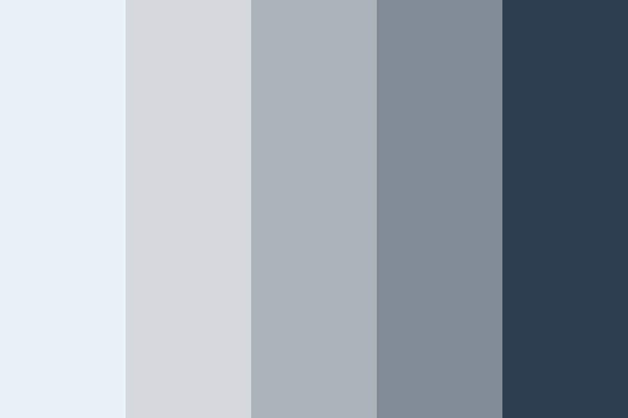 Blues In The Grey Color Palette