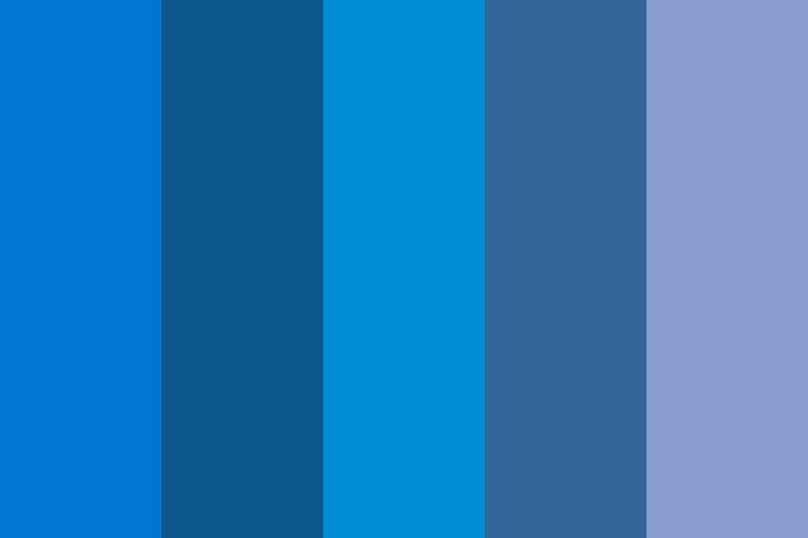 Blues tis Color Palette