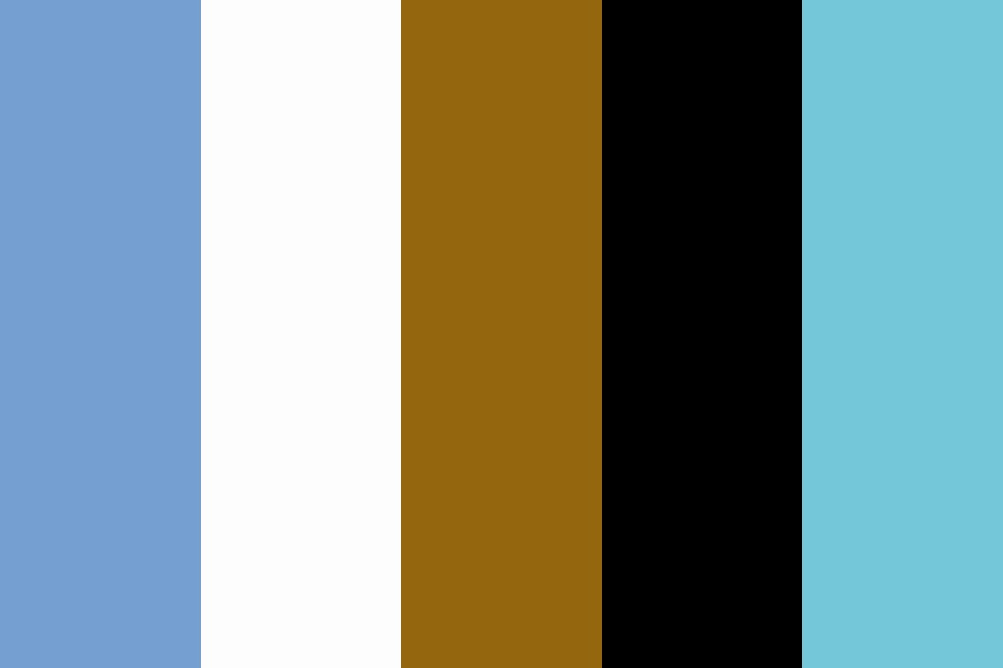 Bluesy And Brown Color Palette