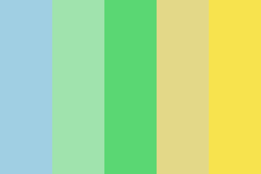 Blugreenyellow Color Palette